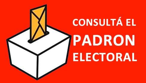 Consultá el Padron Electoral